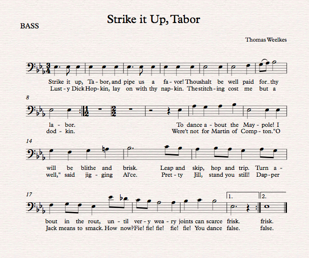 Strike it up, Tabor_Bass