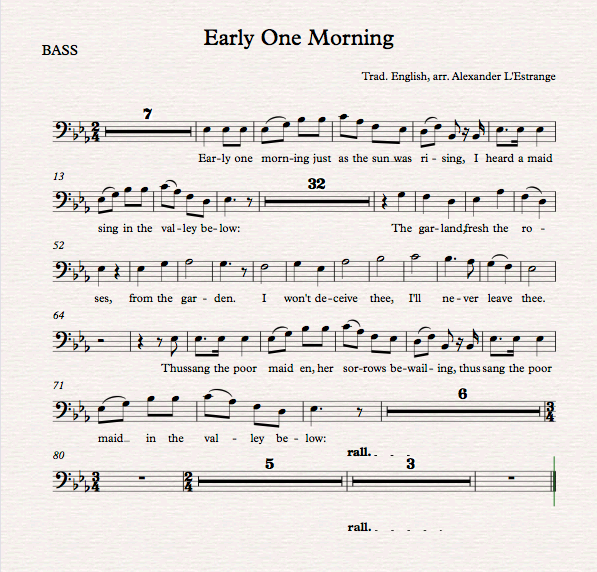 Early One Morning_Bass