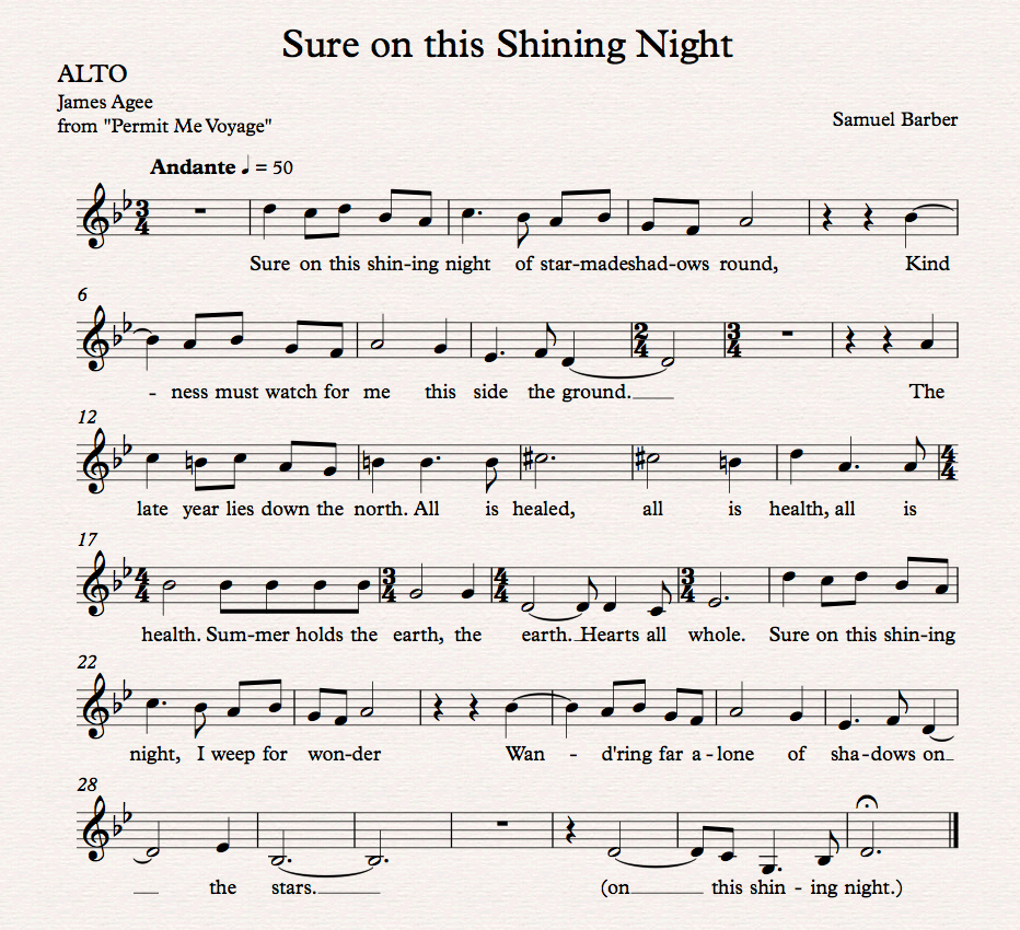 Sure on this Shining Night_Alto