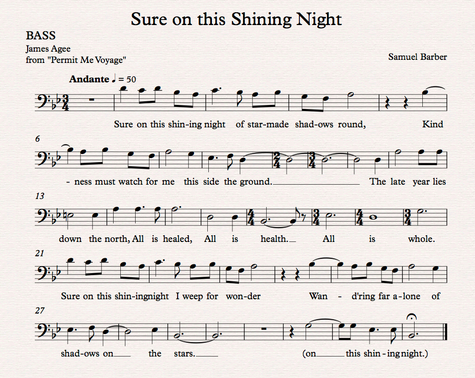 Sure on this Shining Night_Bass