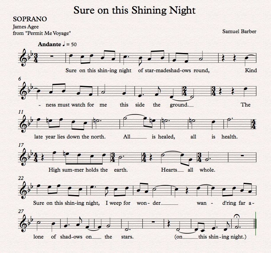 Sure on this Shining Night_Sop